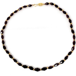 14 Karat Gold Garnet Necklace