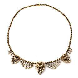 Antique English Oriental Pearl Necklace