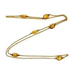 Antique American 14 Karat Citrine Necklace