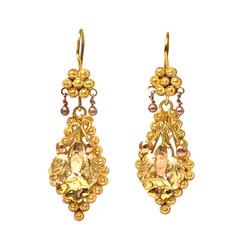 Fine Antique American 14K Gold Earrings