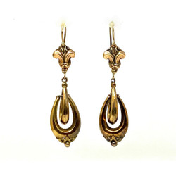 Antique American 14 Karat Gold Earrings