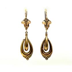 Antique American 14 Karat Gold Earrings