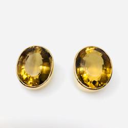 Antique American 14  Karat Citrine Earrings