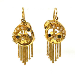 Antique American 14 Karat Art Deco Earrings