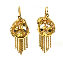 Antique American 14 Karat Art Deco Earrings