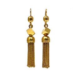 Antique English 15 Karat Tassel Earrings