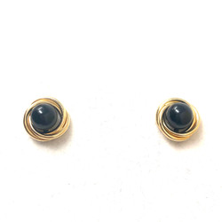 Estate American Onyx Gold-Filled Earrings circa 1950s