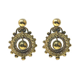 15K Gold Etruscan Earrings