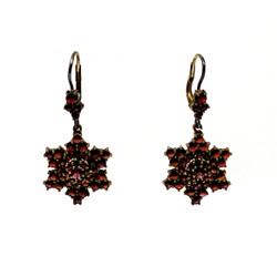 Estate Garnet Cluster Earrings