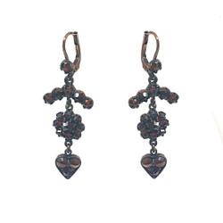 Garnet Sterling Vermeil Earrings
