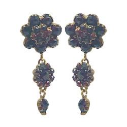 Fine Antique Garnet Cluster Earrings