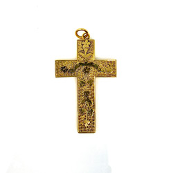 Antique 14 Karat Gold Cross Pendant