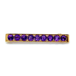 Antique Amethyst 14 Karat Bar Pin