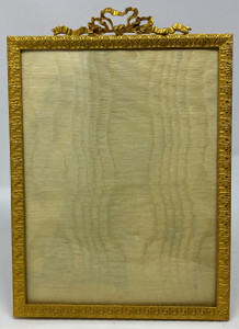 Antique French Louis XVI Style Bronze D'oré Hand-Made Picture Frame circa 1890.