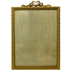 Antique French Louis XVI Style Bronze D'Oré Hand-Made Picture Frame, Circa 1890.