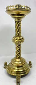 Antique English Brass Candlestick circa 1880-1890