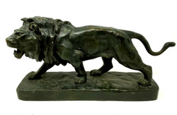 "Antique French Bronze Figural ""Lion"" Statue, Circa 1910-1920."
