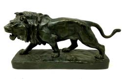 """Antique French Bronze Figural """"Lion,"""" Statue circa 1910-1920"""