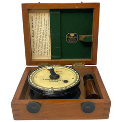 """Antique English """"Paget Angle Sextant """" in Original Case Made by H. Hughes and Son Limited, Circa 1920."""