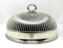 Fine Antique English Silver Plated Meat Dome circa 1870-1880