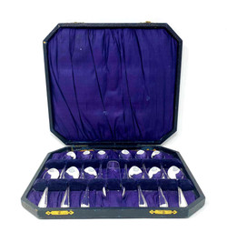 Antique English Silver-Plated 12 Piece Coffee Set in Original Box, Circa 1900.