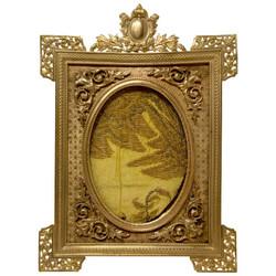 Antique French Bronze D'ore Rectangular Picture Frame, Circa 1890.