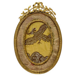 Beautiful Antique French Louis XV Style Bronze D'oré Oval Picture Frame, Circa 1890.