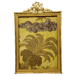 Antique French Louis XVI Style Bronze D'ore Picture Frame, Circa 1890