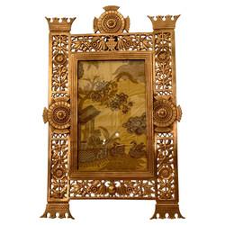"Rare Antique American Art Deco Gold Bronze Standing Picture Frame, Circa 1930's. Fits 5"" x 8"" Photo"