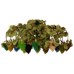 Antique Italian Art Nouveau Venetian Art Glass Grape Clusters Chandelier, Circa 1920.