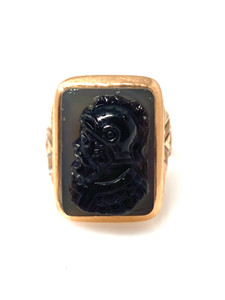 Antique American 14 Kt Gold Cameo Ring