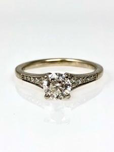 Estate 1/4 Karat White Gold Diamond Ring.