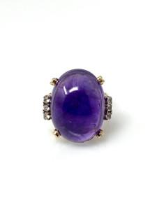 Antique Amethyst 10 Karat Ring