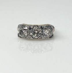 Antique Old Mine Diamond 3.51 Carat 18 Karat Ring