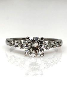 Diamond 1 Carat Ring with an 18 Karat Center