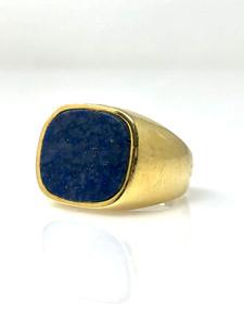 Estate Lapis and 14 Karat Signet Ring