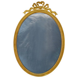 Large Antique French Louis XVI Style Gold Bronze Oval Picture Frame, Circa 1890.