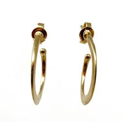 """Estate American 14 Karat Gold """"Avery"""" Hoop Earrings"""