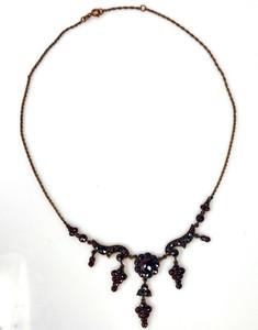 Garnet Sterling Vermeil Necklace