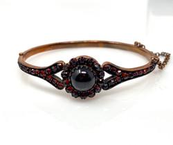 Garnet Bangle Vermeil Bracelet