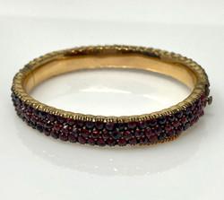 Antique Garnet and Sterling Vermeil Bracelet
