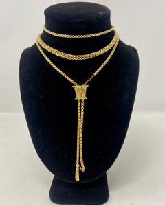 Antique American 14 Karat Gold Watch Chain