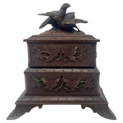 Antique French Carved Walnut Jewel Box, circa 1880-1890