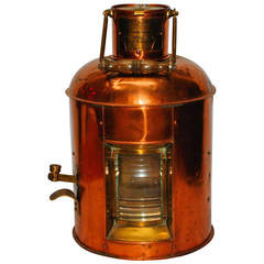 Antique Japanese Kerosene Signal Lamp