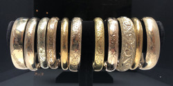 Assorted Antique Gold Filled Bangles.  Prices Vary From $300 - $450