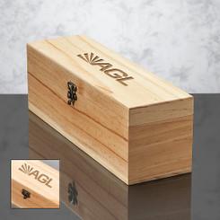 Coffret Deluxe en bois avec fermoir pour 1 bouteille de vin #2515