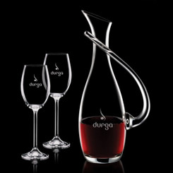 Carafe Uxbridge avec 2 Verres à Vin en Cristal #1175
