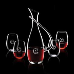 Carafe Uxbridge avec 4 Verres en Cristal #1187