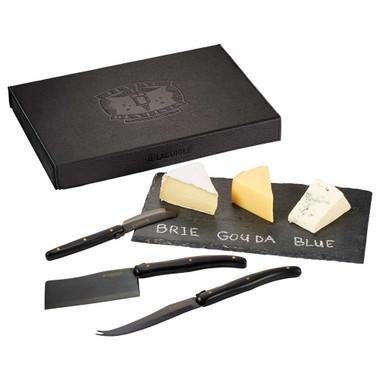 Ensemble cadeau Laguiole : ardoise et couteau a fromage # 4330
