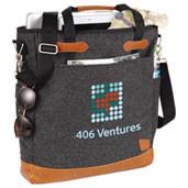 Sac pour ordinateur 15 pouces,  laine charcoal, personnalisé avec votre logo # 4638